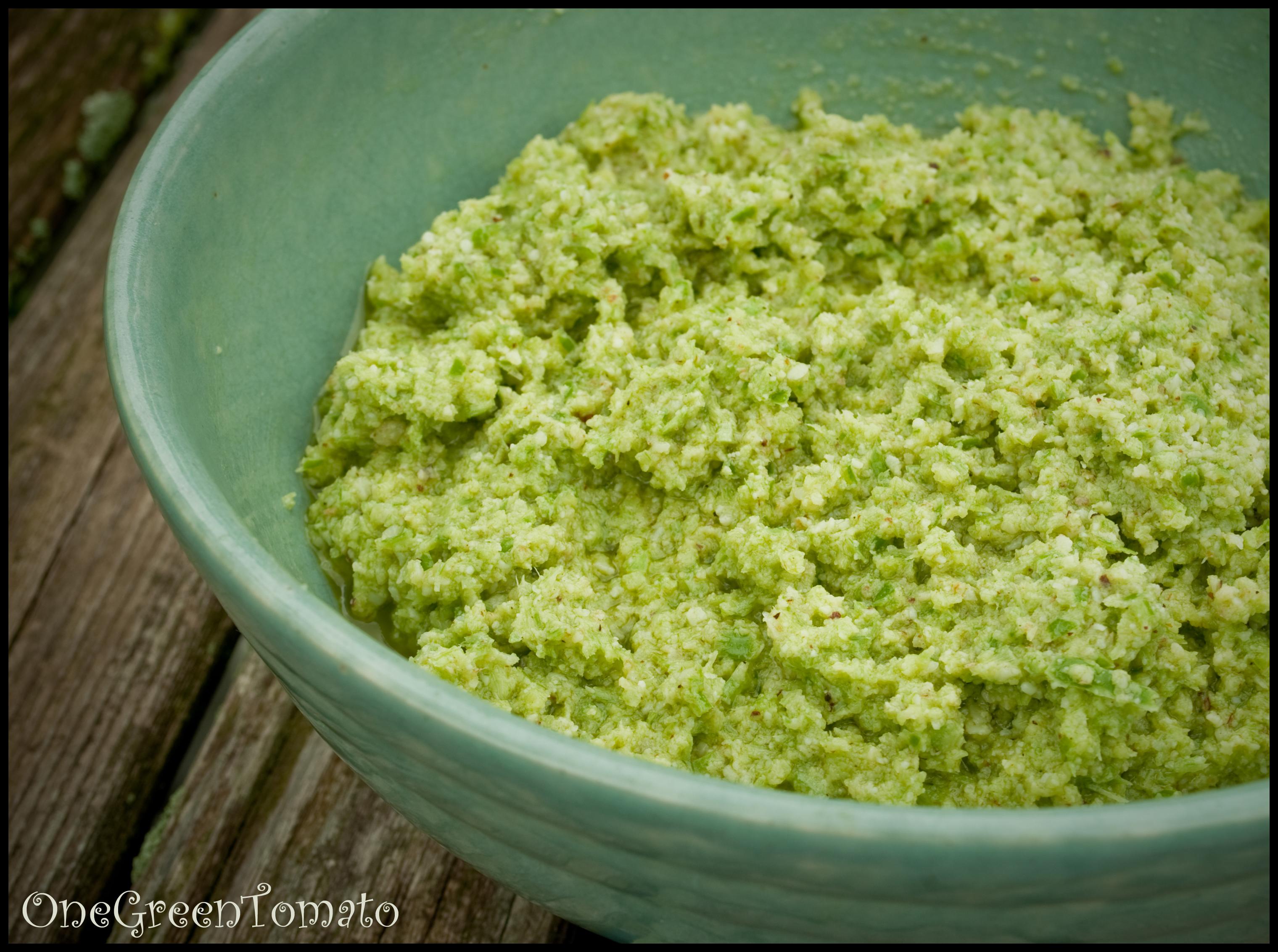 Garlic Scape Pesto On Fusilli With Garlic Scape Garlic ...