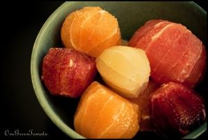 peeled citrus