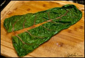 chard leaf cut